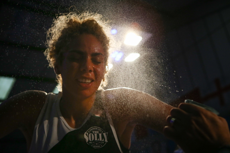 """Boxing is addictive and I'm hooked. I love every aspect of it,"" England's Carly Ogogo tells Women Who Like Sport (c) ABAE website"