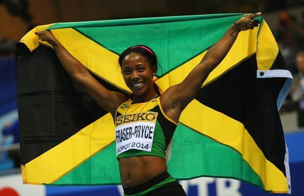 "Why isn't Shelley-Ann Fraser-Pryce considered a ""living legend"" too? (c) Fraser-Pryce's Facebook page"